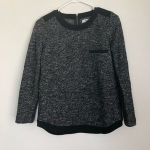 Madewell back Half Zip wool pullover sweater
